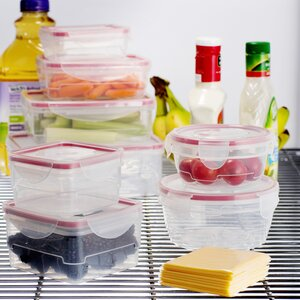 Wayfair Basics Plastic 8 Container Food Storage Set