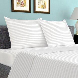 Sheldrake 600 Thread Count Striped 100 Cotton Sheet Set