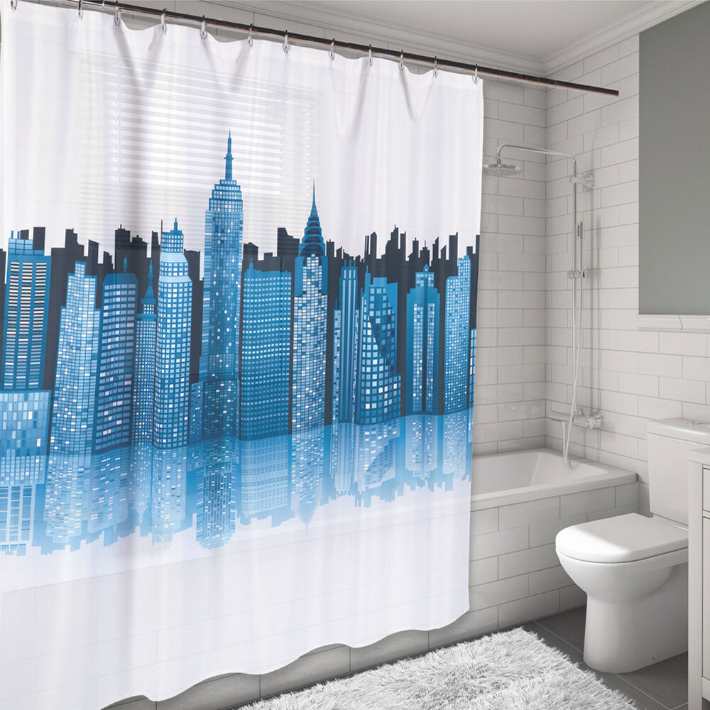 Sweet Home Collection New York City Skyline Water Resistant Shower Curtain
