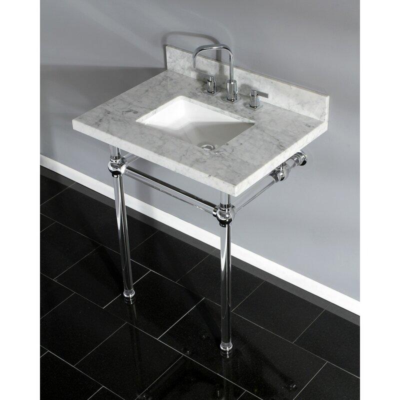 Kingston Brass Carrara Marble 30 Single Bathroom Vanity Set