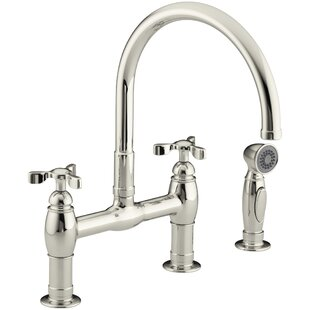 Parq Bridge Faucet With Side Spray