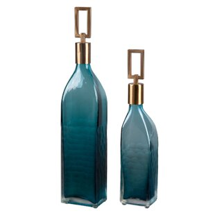 3994ffd002d3 Glass Bottle Vase Runner Set | Wayfair