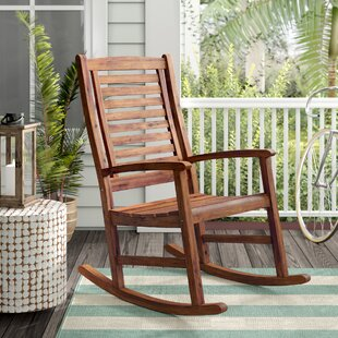Check Prices Pine Hills Outdoor Rocking Chair Beachcrest Home