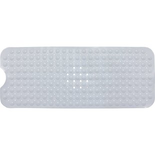 Non Slip Anti Bacterial Rectangle PVC Massage Bathtub Mat