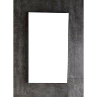 Wood Framed Bathroom Wall Mirror