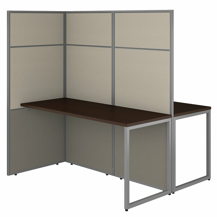 Etonnant Easy Office 2 Person Cubicle Desk Workstation With Panels