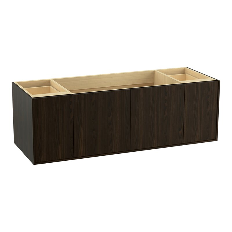 Jute 60 Vanity Base Only With 2 Doors And Drawers Split Top Drawer
