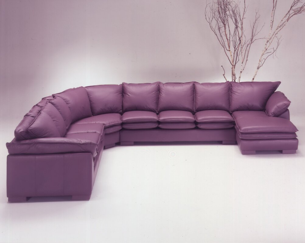 Purple Leather Sectional How To Use Purple In Stunning Looking