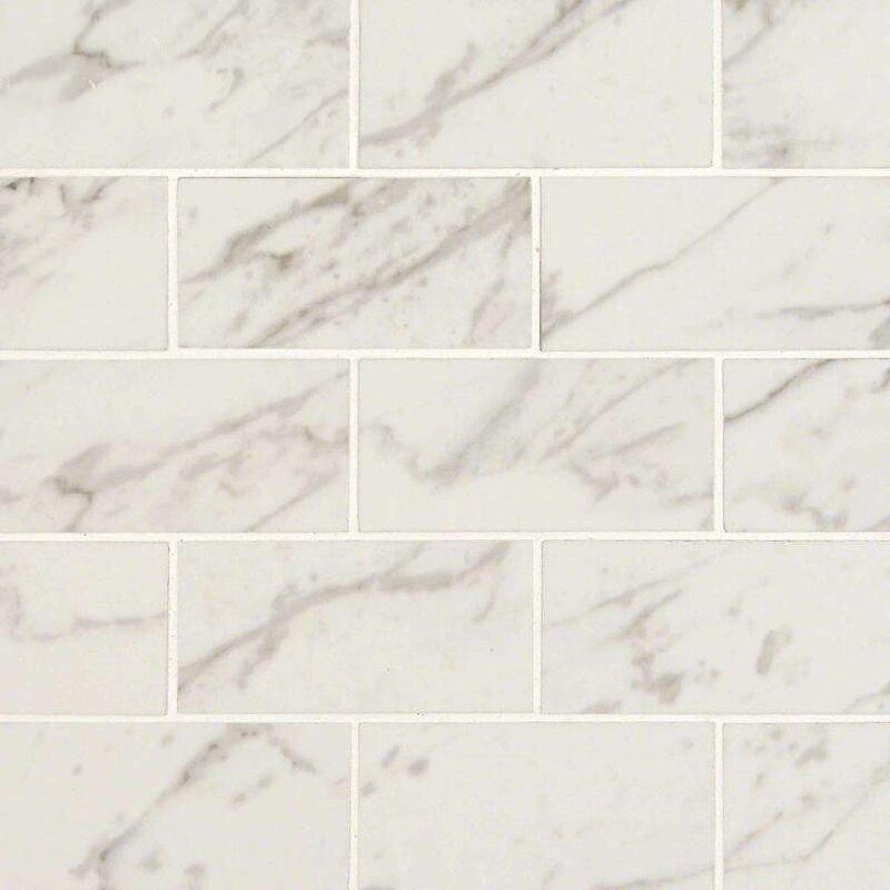 MSI Pietra X Porcelain Mosaic Tile In Carrara Wayfair - 2 x 4 floor tiles