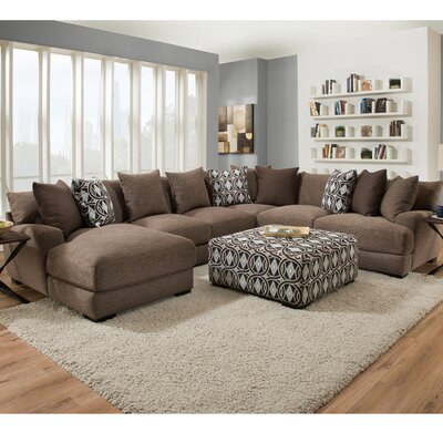 u shaped sectionals you 39 ll love wayfair. Black Bedroom Furniture Sets. Home Design Ideas
