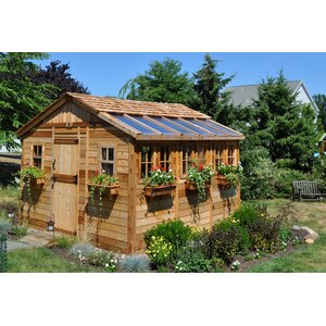 Sunshed 12 ft. W x 12 ft. D Wooden Storage Shed