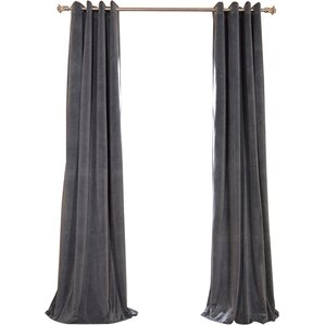 Hackney Solid Max Blackout Tab Top Single Curtain Panel
