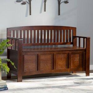 Garrity Wood Storage Bench