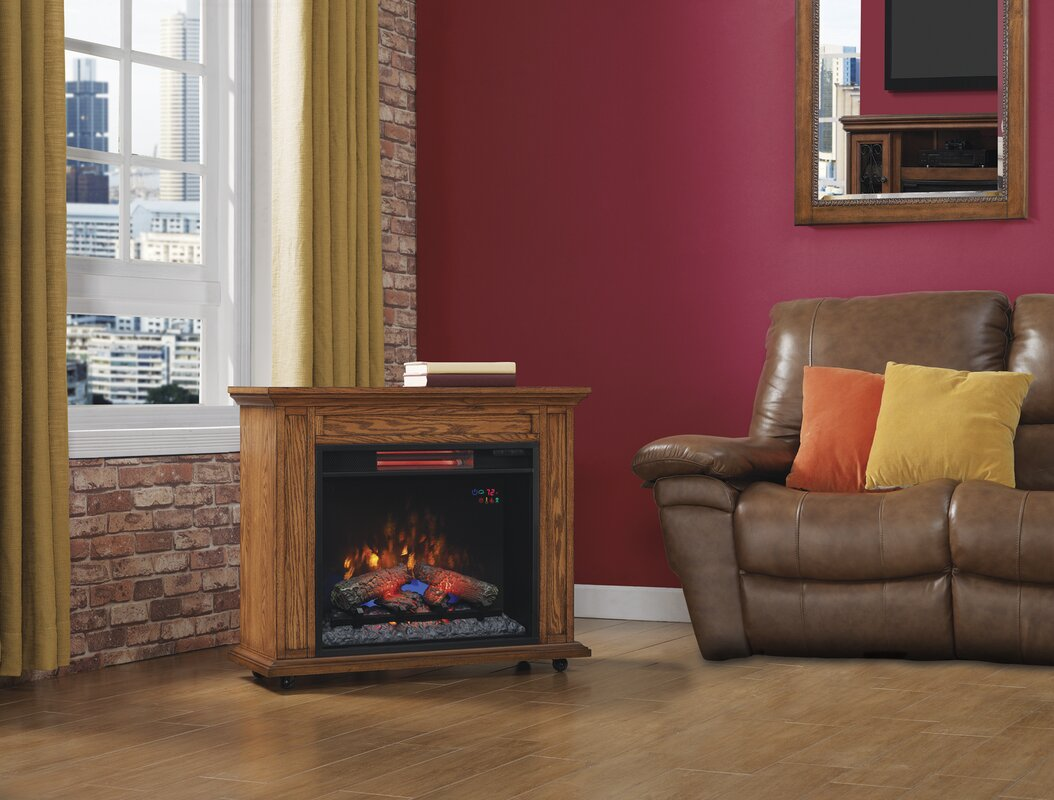 Twin Star Home Duraflame 174 Rolling Mantel Electric