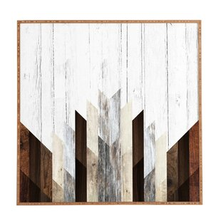 'Geo Wood 3' Framed Graphic Art