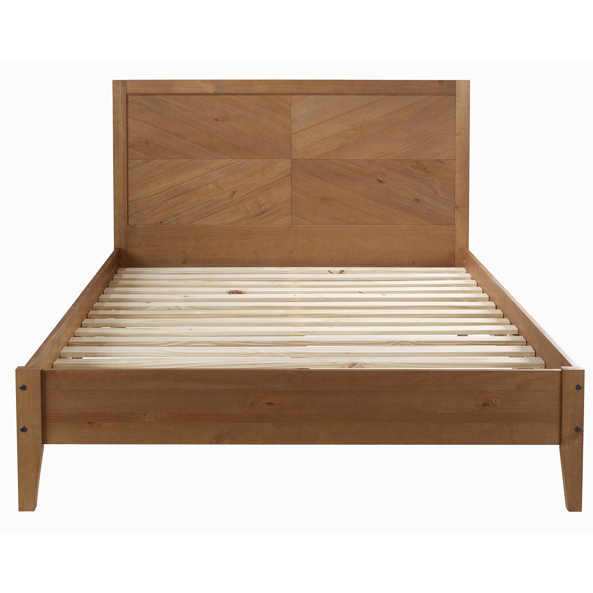 Steve Solid Wood Queen Platform Bed