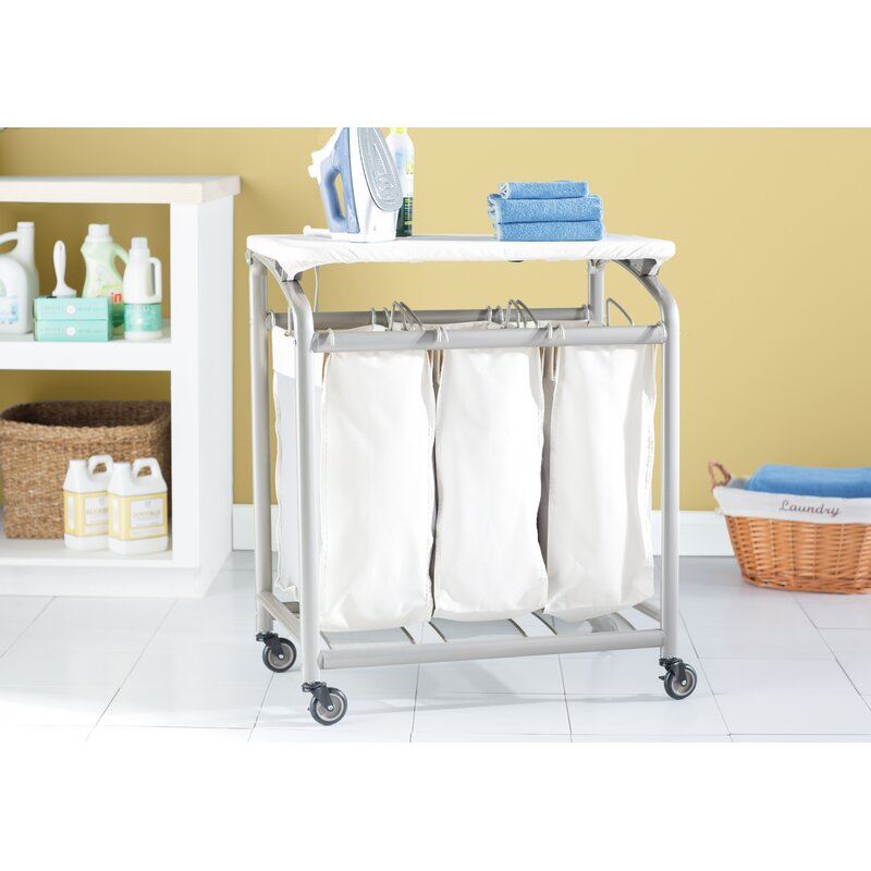 Laundry Sorter Hamper With Folding Table