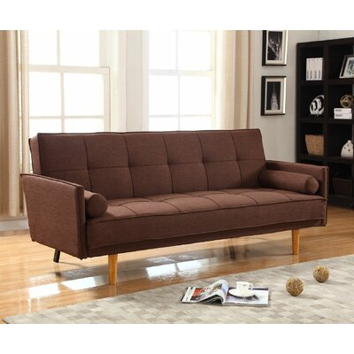 BestMasterFurniture Convertible Sofa Upholstery: Brown