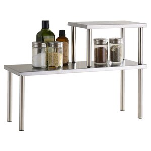 Erin 2 Piece Stainless Steel Square Accent Storage Shelf Set by Zipcode Design