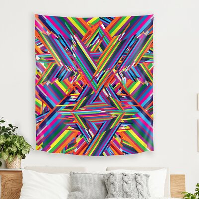 The Shattering by Joe Van Wetering Tapestry East Urban Home Size: 104 H x 88 W x 1 D