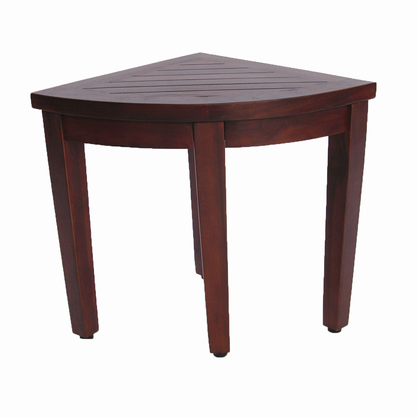 Decoteak Oasis Teak Corner Shower Seat Stool Shower Seat & Reviews ...