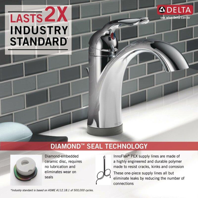 Lahara Single Hole Bathroom Faucet With Drain Embly And Diamond Seal Technology