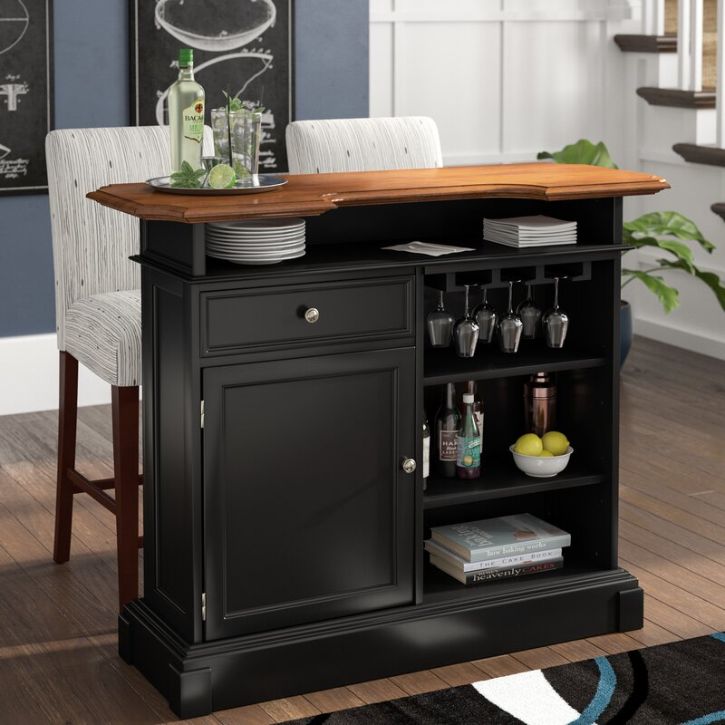 Home Bar Furniture: Three Posts Benally Home Bar & Reviews