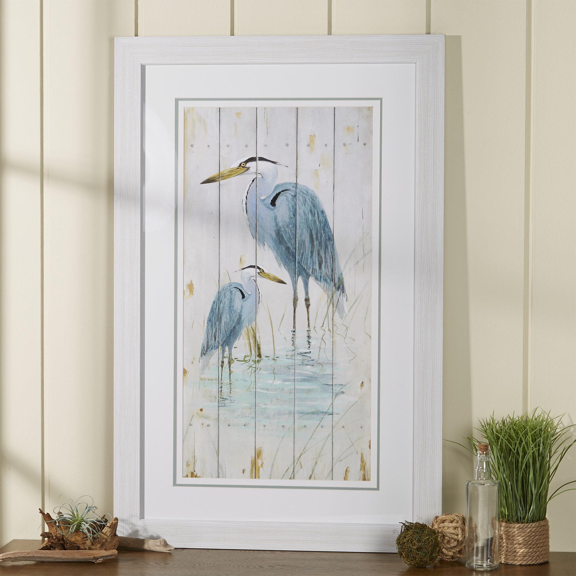 beachcrest home  u0027blue heron duo u0027 graphic art  u0026 reviews   wayfair  rh   wayfair