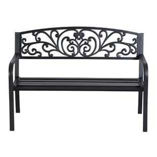 Strasburg Blossoming Decorative Metal Garden Bench