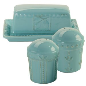 Dorothy 3 Piece Butter/Salt and Pepper Set