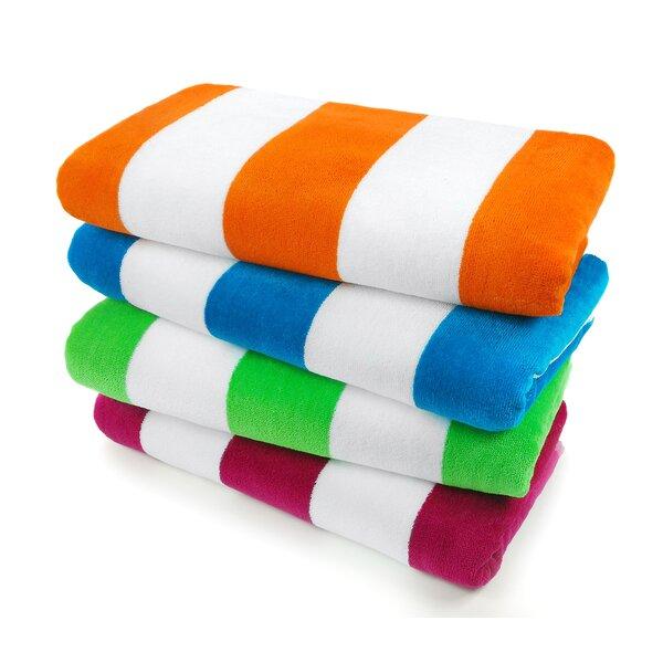 beach towel.  Kaufman Sales Velour Cabana Light Beach Towel Reviews Wayfair