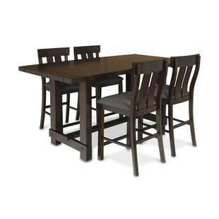 Frisco 5 Piece Counter Height Solid Wood Dining Set