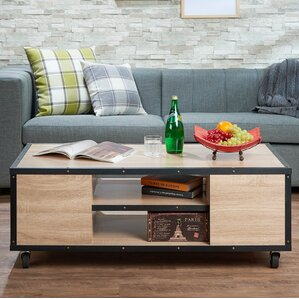Casters Rustic Coffee Tables Youll Love Wayfair