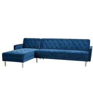 Modern & Contemporary Navy Blue Sectional Sofa   AllModern