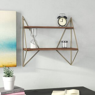 Foote Decorative Mid Century Modern Wall Shelf