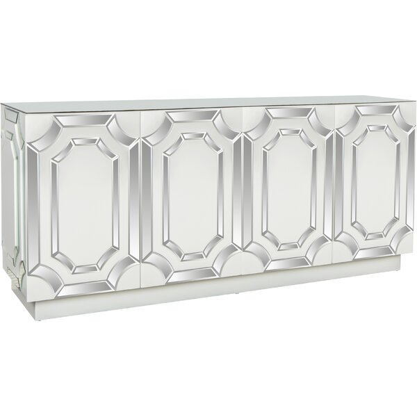 Mirrored;White Buffet Table by Allmodern