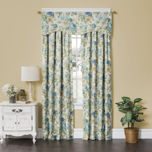 English Floral Thermal Single Curtain Panel