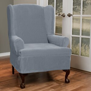 T-Cushion Wing Chair Slipcover by Red Barrel Studio