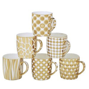 Blayze 6 Piece Barrel Mug Set