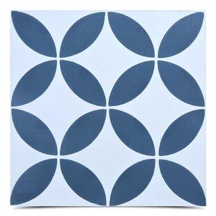 Amlo Handmade 8 X Cement Field Tile In Navy Blue White