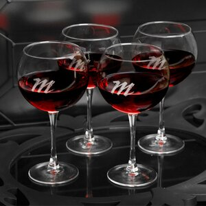 Allamuchy Personalizedes 20 Oz. Red Wine Glass (Set of 4)