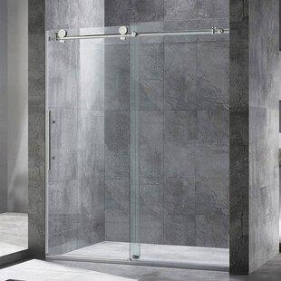 Shower bathtub doors youll love wayfair single sliding shower door planetlyrics Images