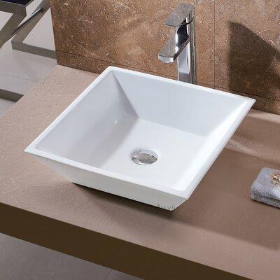 Ceramic Square Vessel Sink Bathroom Sink
