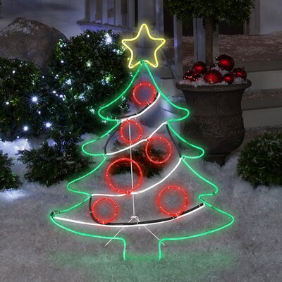 light glo christmas tree with star lighted display