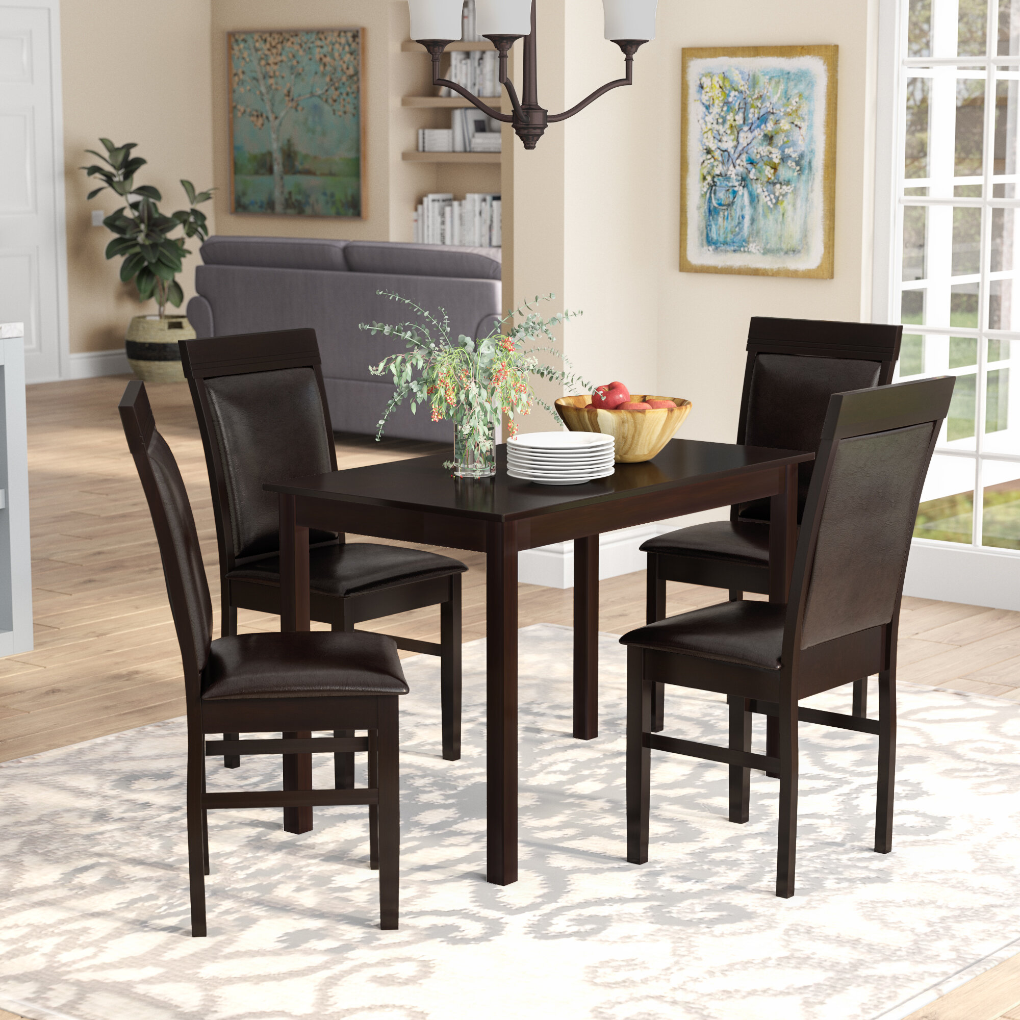 Red Barrel Studio Kisor Modern And Contemporary 5 Piece Breakfast Nook Dining Set Reviews Wayfair