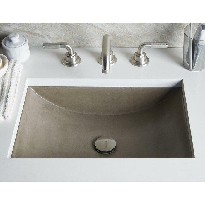 Lavabo de salle de bain rectangulaire encastré en pierre cabrillo