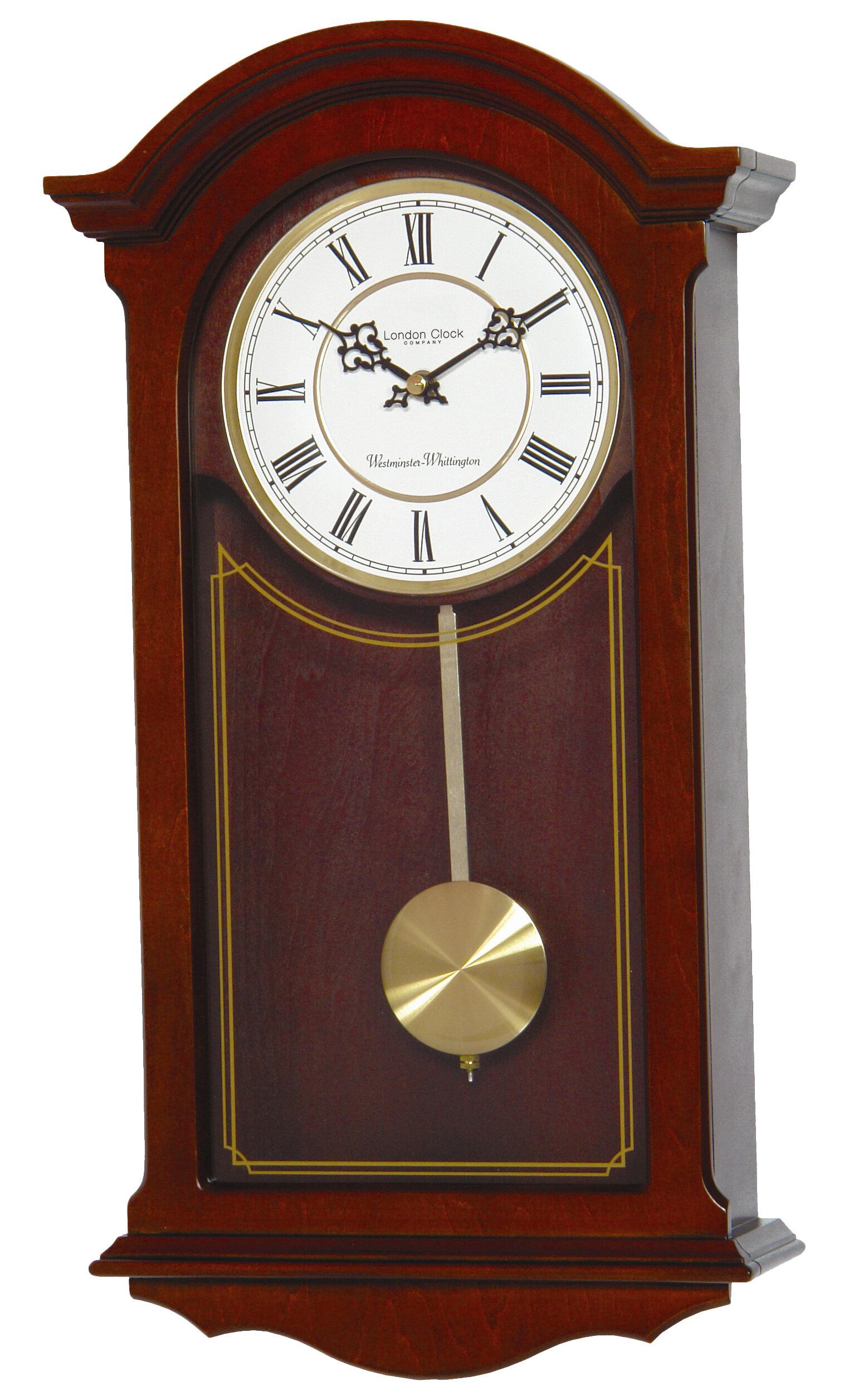 London Clock Company Walnut Wood Pendulum Wall Reviews Wayfair Co Uk