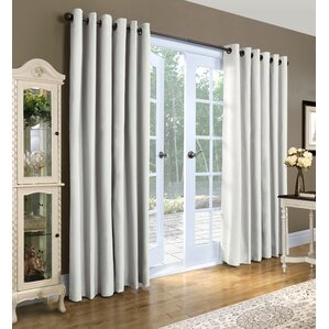 Ranger Solid Semi Sheer Thermal Grommet Curtain Panels (Set Of 2)