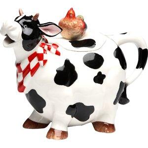 Cow 0.81-qt. Teapot