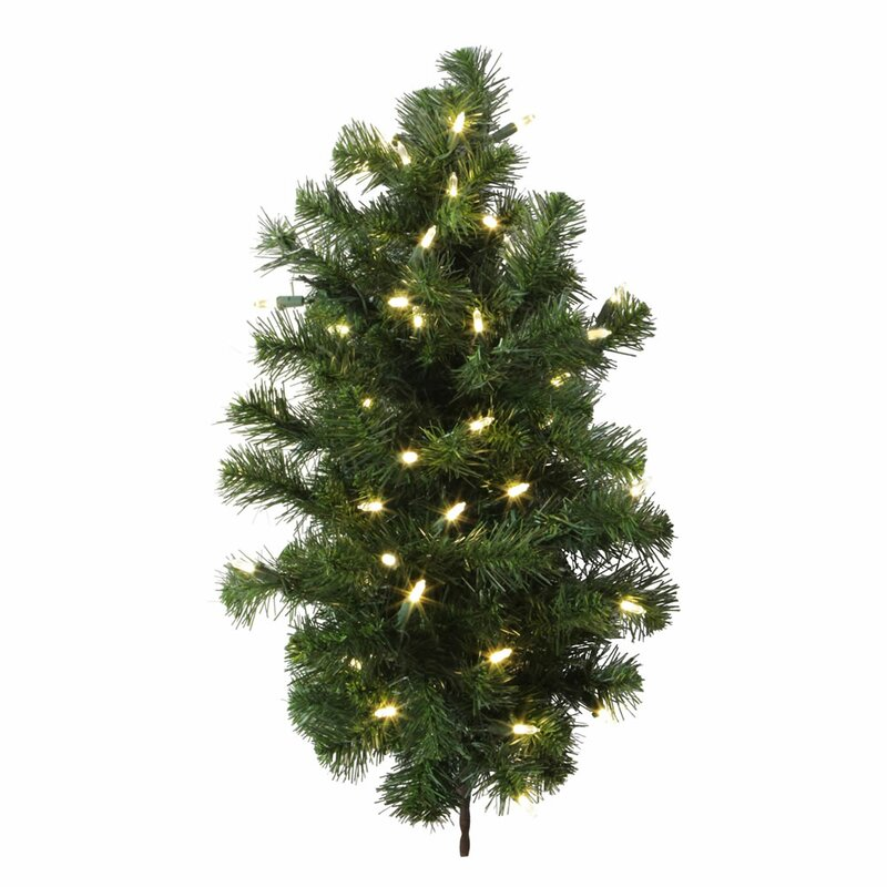 Douglas Fir 2 Green Fir Artificial Christmas Tree With 50 Led White Lights With Stand